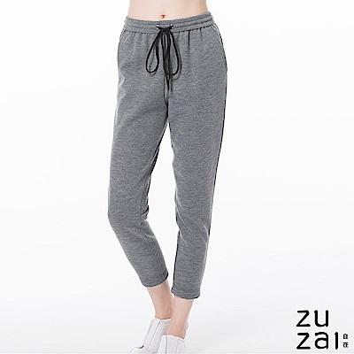 zuzai 自在暖煦系列 極輕羊毛休閒褲-女-灰色