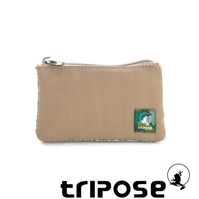 tripose 漫遊系列岩紋簡約微旅萬用零錢包 駝