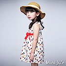Mini Jule 童裝-洋裝 滿版蝴蝶無袖洋裝(白)