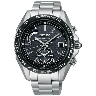 SEIKO BRIGHTZ 太陽能【鈦】4局電波腕錶(SAGA119J)-黑/43mm