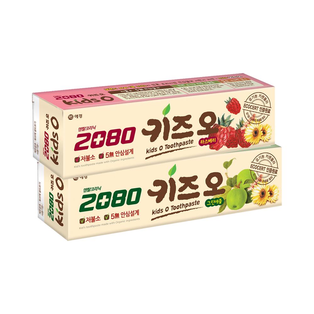 韓國2080 有機兒童牙膏100g(蘋果+莓果) 2入組