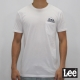 Lee 短袖T恤 前口袋設計 -男款-白色