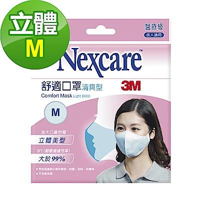 3M Nexcare 舒適口罩 輕爽型 拋棄式 5片包(M)
