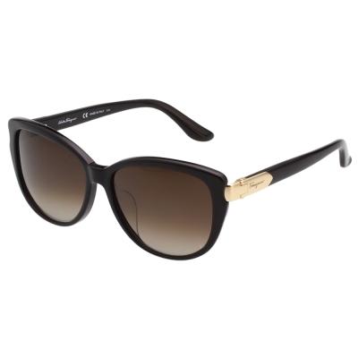 Salvatore Ferragamo 時尚低調 太陽眼鏡(黑色)SF797SA @ Y!購物