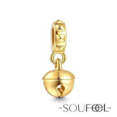 SOUFEEL索菲爾 925純銀珠飾 聖誕鈴鐺A 吊飾