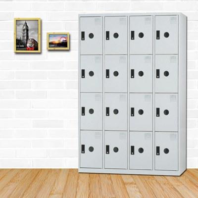 時尚屋奧斯曼多用途塑鋼製16格置物櫃 寬119x深51x高180cm