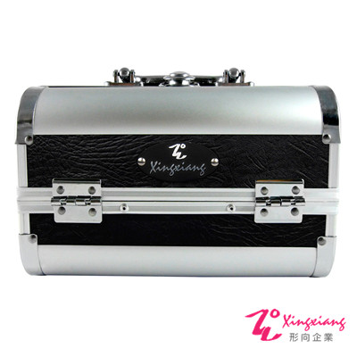 Xingxiang 形向 輕盈黑銀小型 手提 化妝箱  6 K- 03