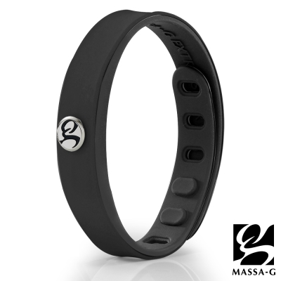 MASSA-G SP1炫色鍺鈦能量手環-黑