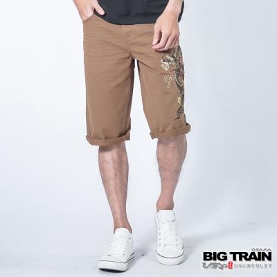 BIG TRAIN 墨龍短褲-男-卡其