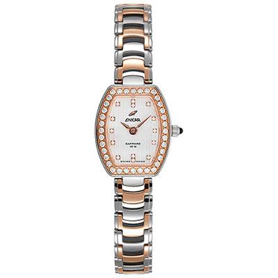 ENICAR 英納格 CH131真女系列石英鍊帶女錶-雙色版/20mm