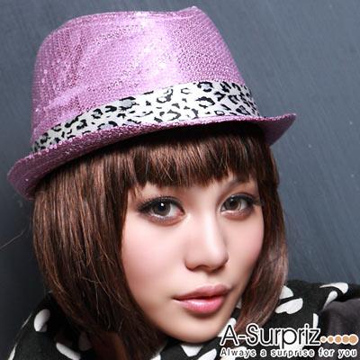 A-Surpriz 絢彩魅力亮片中折帽(嫵媚紫)
