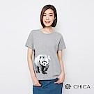 CHICA 復刻黑白水彩浣熊圖騰上衣(3色)