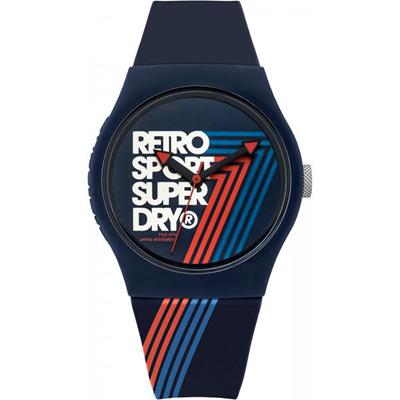 Superdry極度乾燥Urban繽紛玩色時尚手錶-藍/38mm