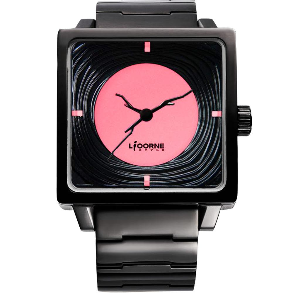 LICORNE 年輪 TreeRings 橙果設計腕錶-粉紅/IP黑/36mm