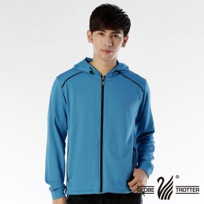 【遊遍天下】MIT台灣製男款抗UV吸排機能連帽外套112-1寶藍