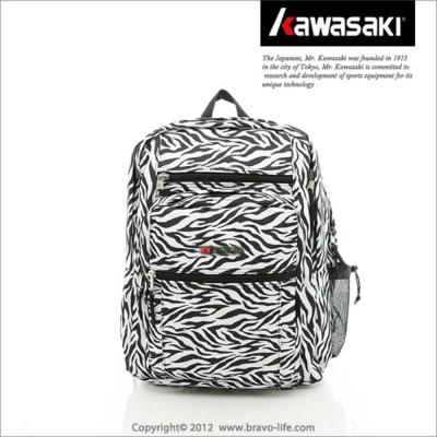 Kawasaki 豹紋大背包(省長大背包)_黑白色