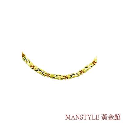 MANSTYLE 榮耀 黃金項鍊/素鍊 (約6.90錢)