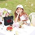 花園米奇米妮系列-花漾派對帆布兩用斜背包-深邃藍