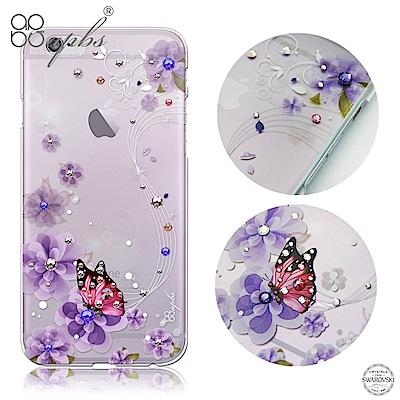 apbs iPhone6s/6 Plus 5.5吋 施華洛世奇彩鑽手機殼-迷情蝶戀