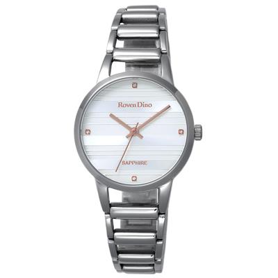 Roven Dino羅梵迪諾 豎月琴聲時尚腕錶-RD722S-298W/30mm