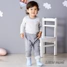 Little moni 純棉家居系列拼接反褶長褲 麻花灰