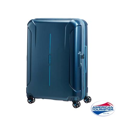 AT美國旅行者 25吋Technum防刮飛機輪可擴充TSA海關鎖行李箱(藍)