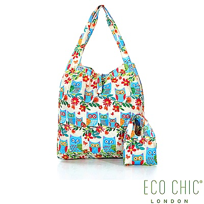 英國ECO CHIC折疊購物袋-夜鴞