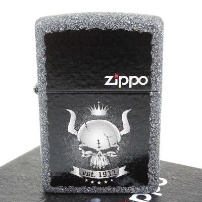 【ZIPPO】美系~Skull Crown-皇冠骷髏圖案設計打火機