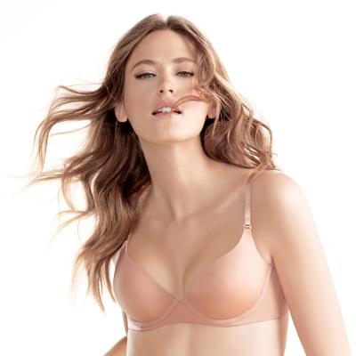 黛安芬-身體底妝輕薄透T-Shirt胸罩內衣D-E罩杯(經典裸色)