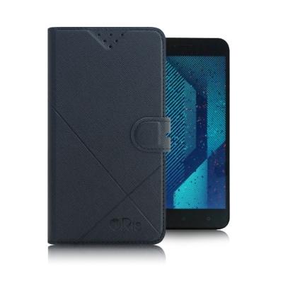 iRis HTC One X10 5.5吋 亮紋磨砂側翻支架皮套