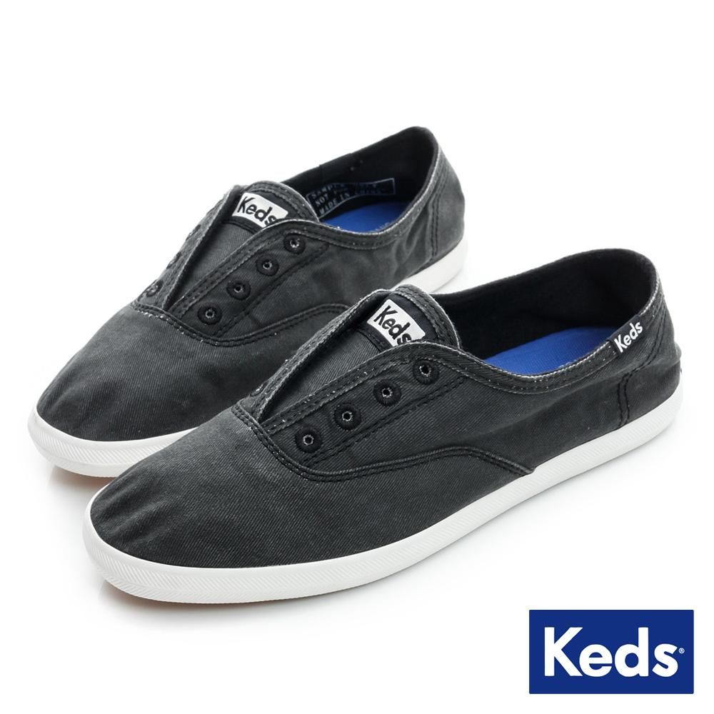 Keds 品牌經典系列之水洗休閒便鞋-炭灰