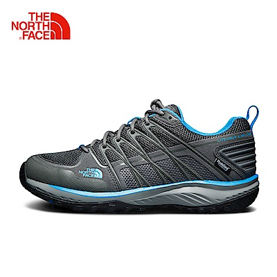 The North Face北面男款灰色防滑透氣徒步鞋