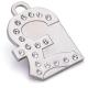 澳洲品牌Hamish McBeth - BlingBling水晶吊牌、銀色英磅 product thumbnail 1