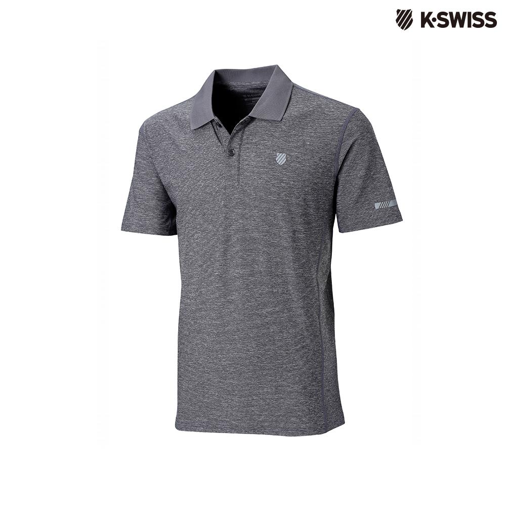 K-Swiss Space Dye Polo Shirt排汗POLO杉-男-灰