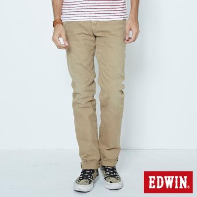EDWIN 重新塑造 NARROW後染中直筒休閒褲-男-卡其色