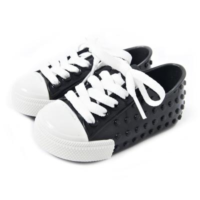 MINI MELISSA豆豆鞋~黑 白
