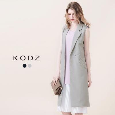 東京著衣-KODZ 率性質感無袖長版西裝(共二色)