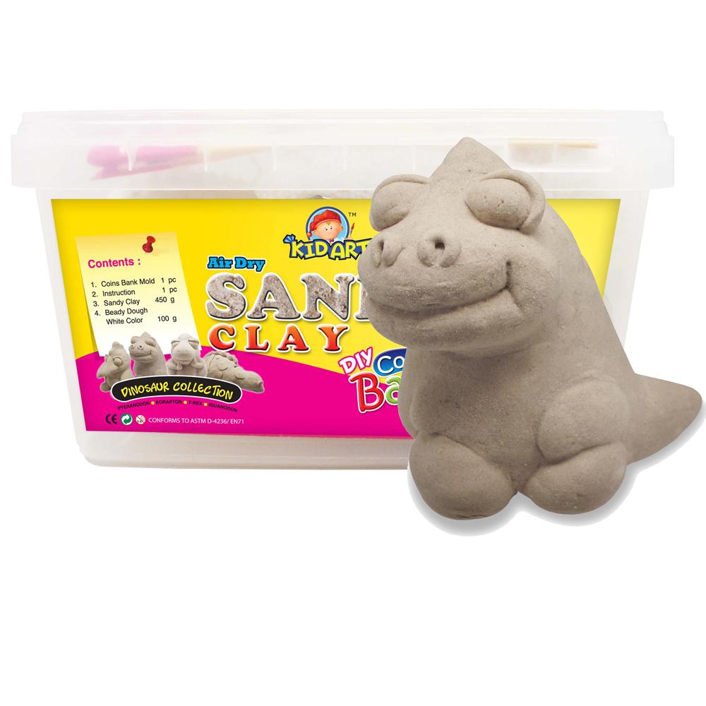 【KID ART】美國創意手作黏土-沙雕黏土(始盜龍)