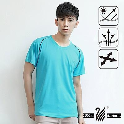 【遊遍天下】台灣製中性款透氣圓領吸濕排汗機能衫S0707淡藍