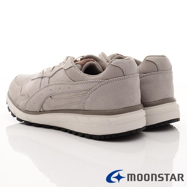 日本Moonstar戶外健走鞋-防潑水3E寬楦款-ON617灰(男段)