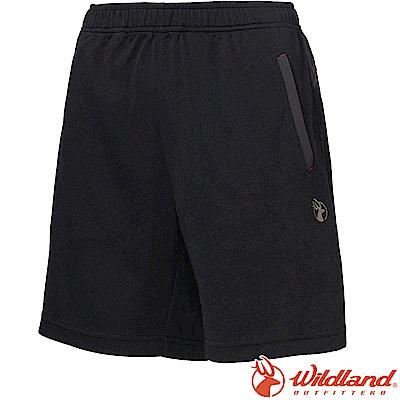 Wildland 荒野 0A61637-54黑色 女雙色抗UV排汗短褲