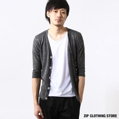 開襟外套7分袖-ZIP日本男裝
