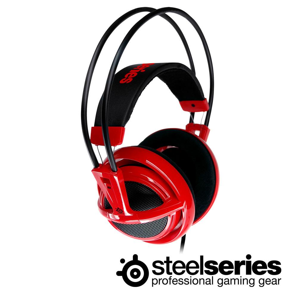 SteelSeries Siberia V1 頭戴式全罩耳麥(炫彩紅)