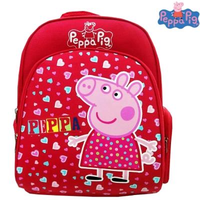 【Peppa Pig 粉紅豬】EVA護脊後背書包(梅紅_佩佩豬_PP5715A)