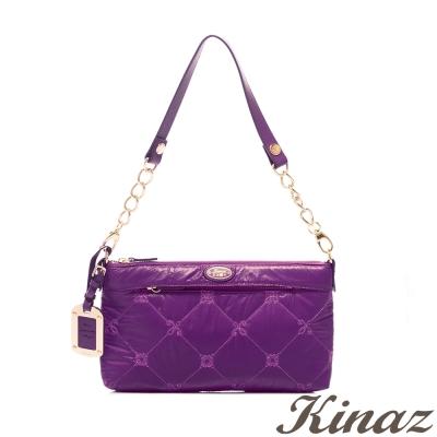 KINAZ 輕熟感多用鏈帶斜背包-優雅紫-氣球系列