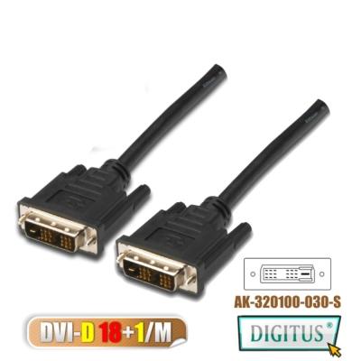 曜兆DIGITUS DVI-D (18+1) *3 公尺圓線(公-公)