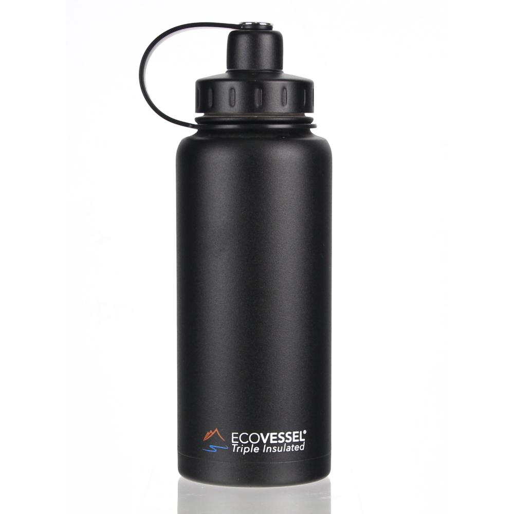 美國 Eco Vessel Boulder 不鏽鋼保溫水壺(946cc)-暗影黑