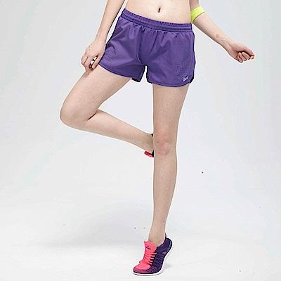 【TOP GIRL】純色鬆緊腰帶頭運動短褲-紫