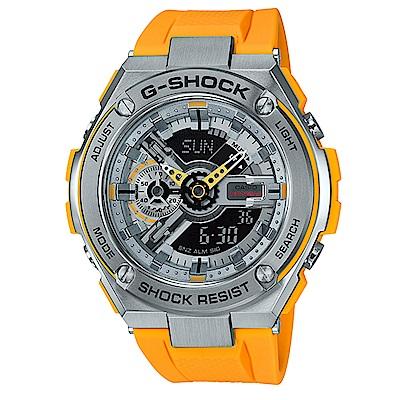 G-SHOCK 絕對強悍分層防護爵士樂概念休閒((GST-410-9)黃x黑面52.4mm