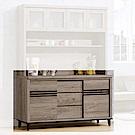 H&D 古橡木色5尺碗櫃下座 (寬154X深47X高85cm)